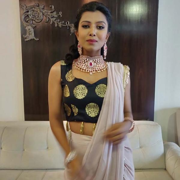 Nude Dhoti Saree