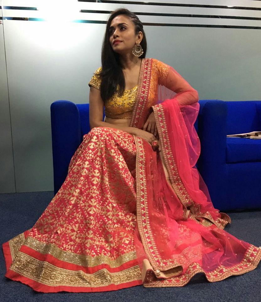 Amruta Khanvilkar Celebrity Fashion Designer and Brand Priti Sahni - Celebrities