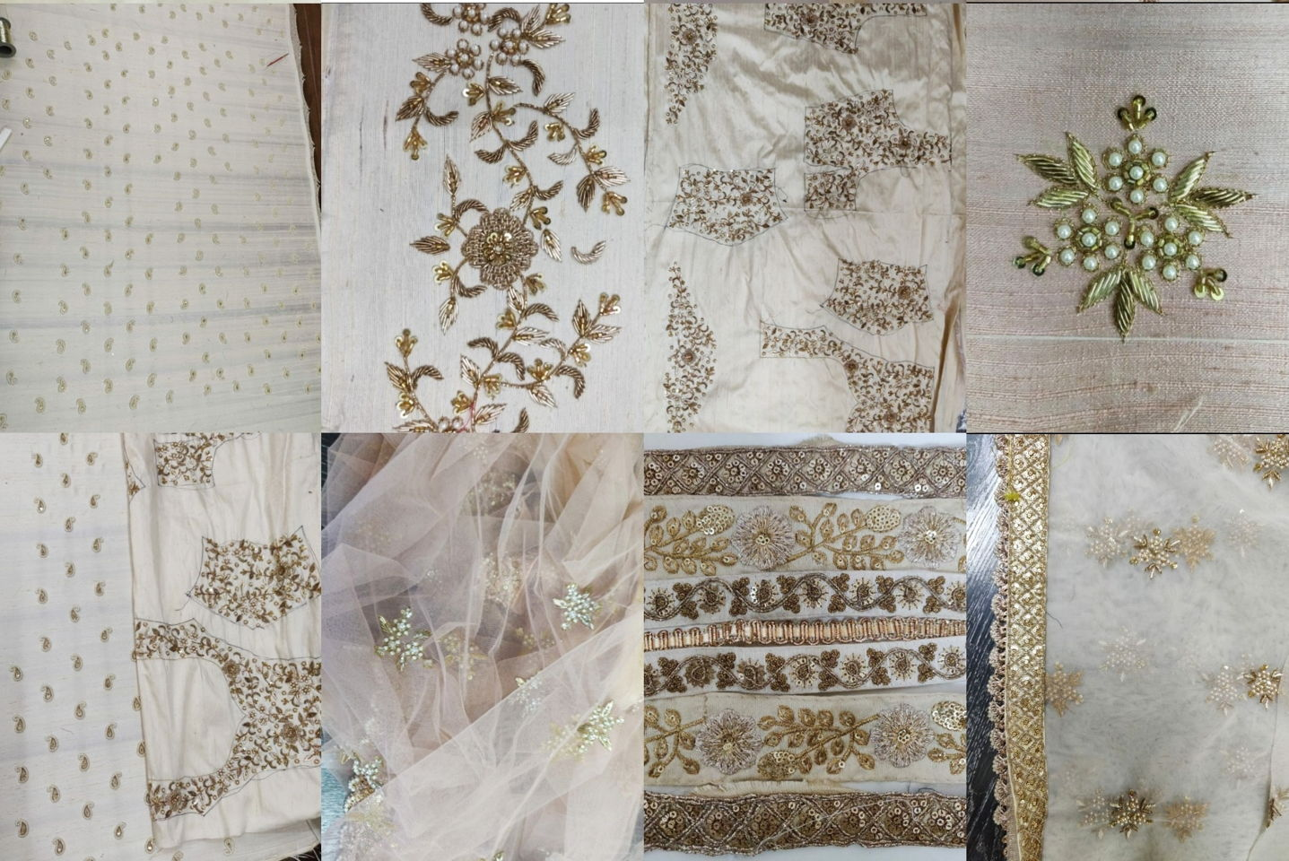 Emb process collage - Making of Niti's Bridal Outfit