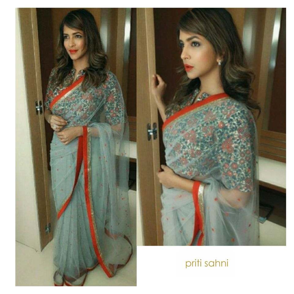 Lakshmi Manchu Celebrity Fashion Designer and Brand Priti Sahni - Celebrities