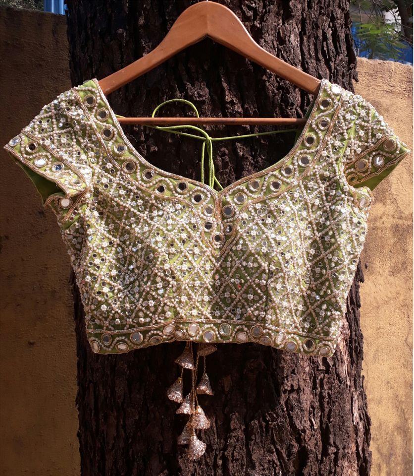 Coral Mirror Work Lehenga - Fashion Brand & Designer Priti Sahni 2