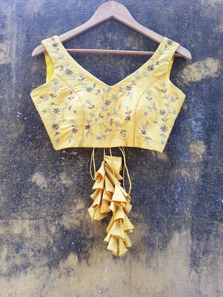Mustard Raw Silk Lehenga