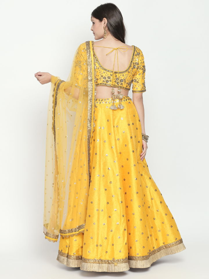 Yellow Sequin Lehenga