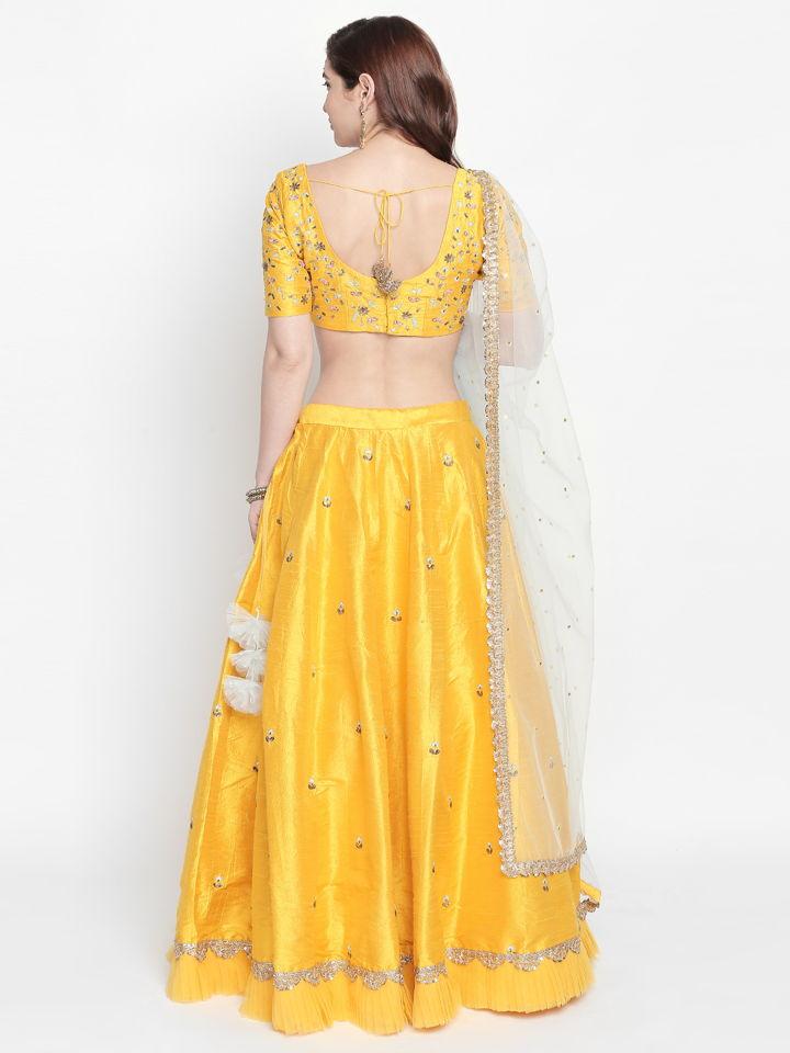 Yellow Resham Work Lehenga - Fashion Brand & Designer Priti Sahni 4