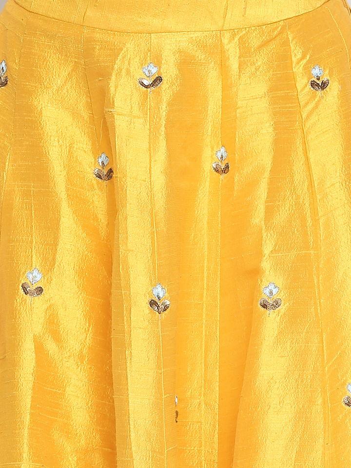 Yellow Resham Work Lehenga - Fashion Brand & Designer Priti Sahni 8