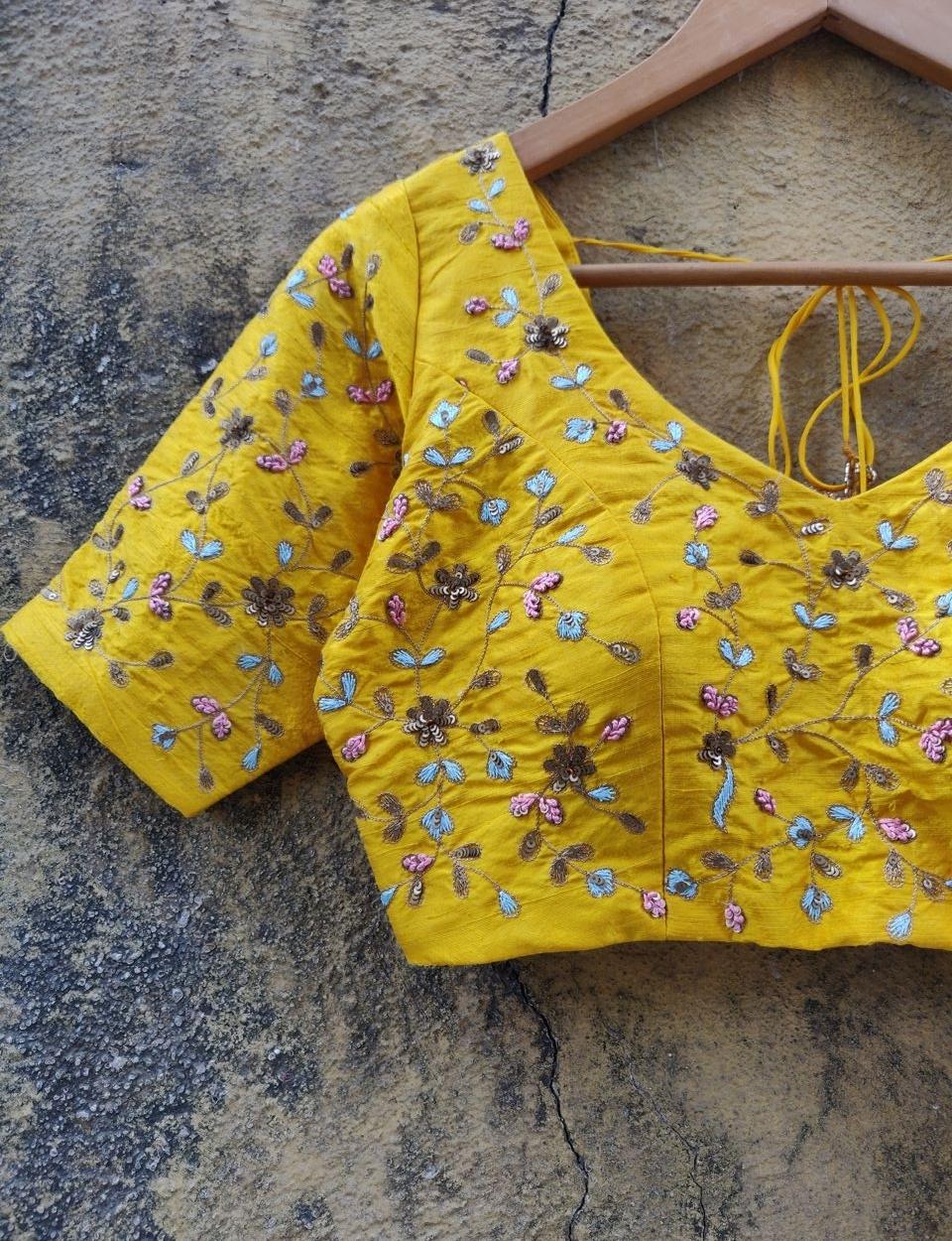 Yellow Resham Work Lehenga - Fashion Brand & Designer Priti Sahni 9
