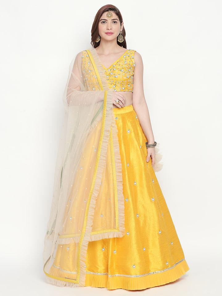 Yellow Ivory Lehenga - Fashion Brand & Designer Priti Sahni
