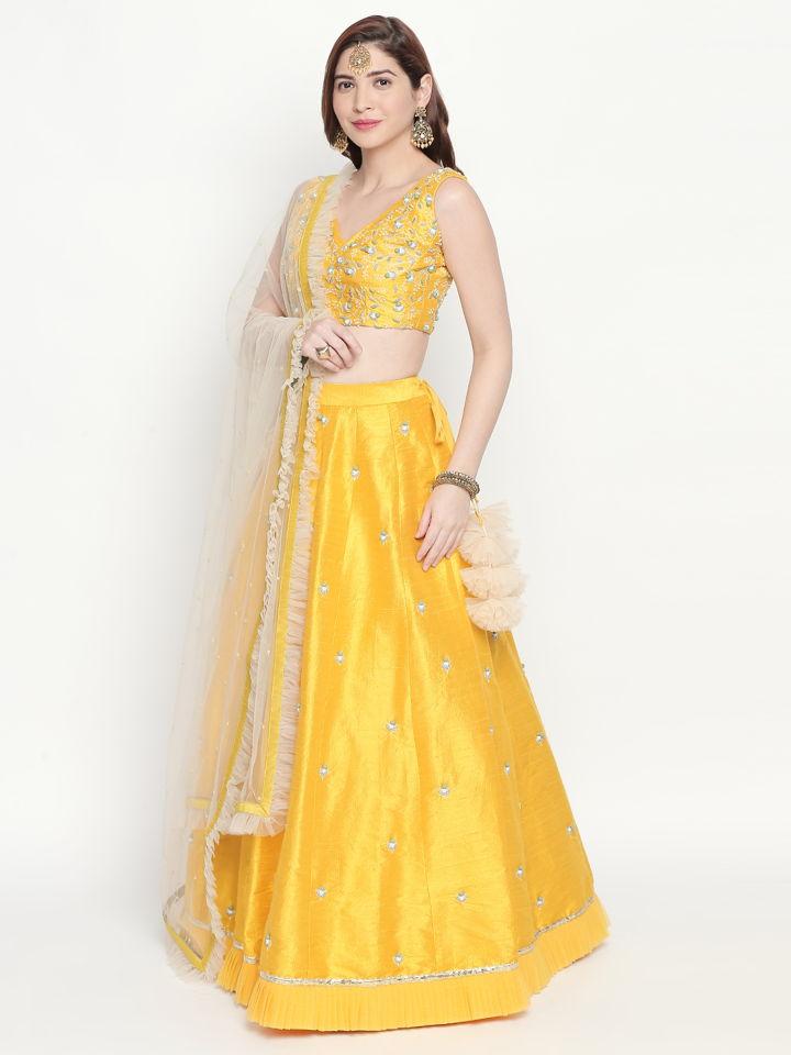 Yellow Ivory Lehenga - Fashion Brand & Designer Priti Sahni 2