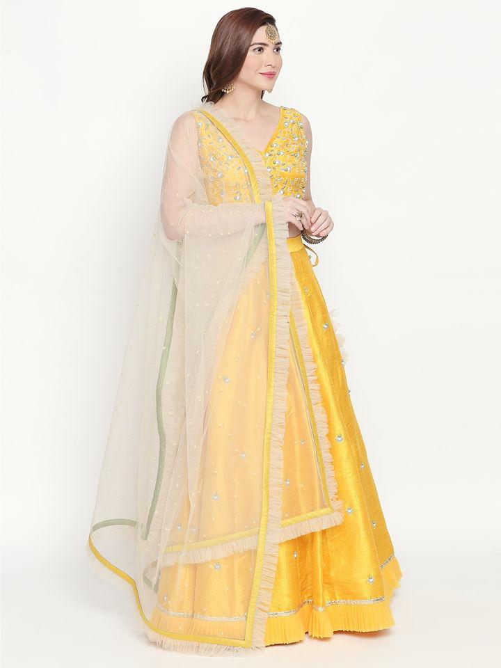 Yellow Ivory Lehenga - Fashion Brand & Designer Priti Sahni 4