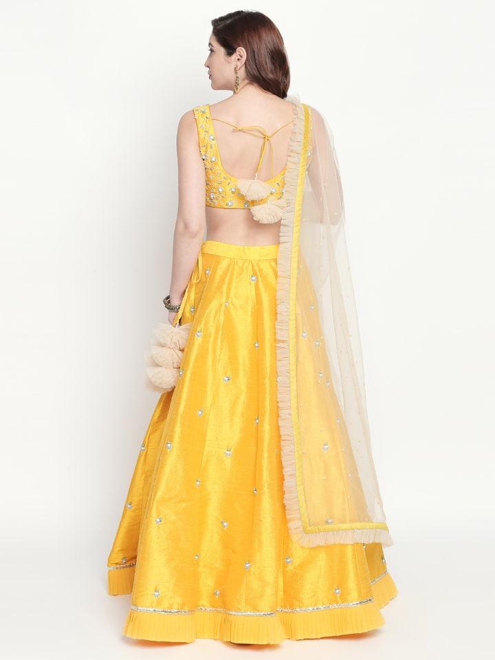 Yellow Ivory Lehenga - Fashion Brand & Designer Priti Sahni 6