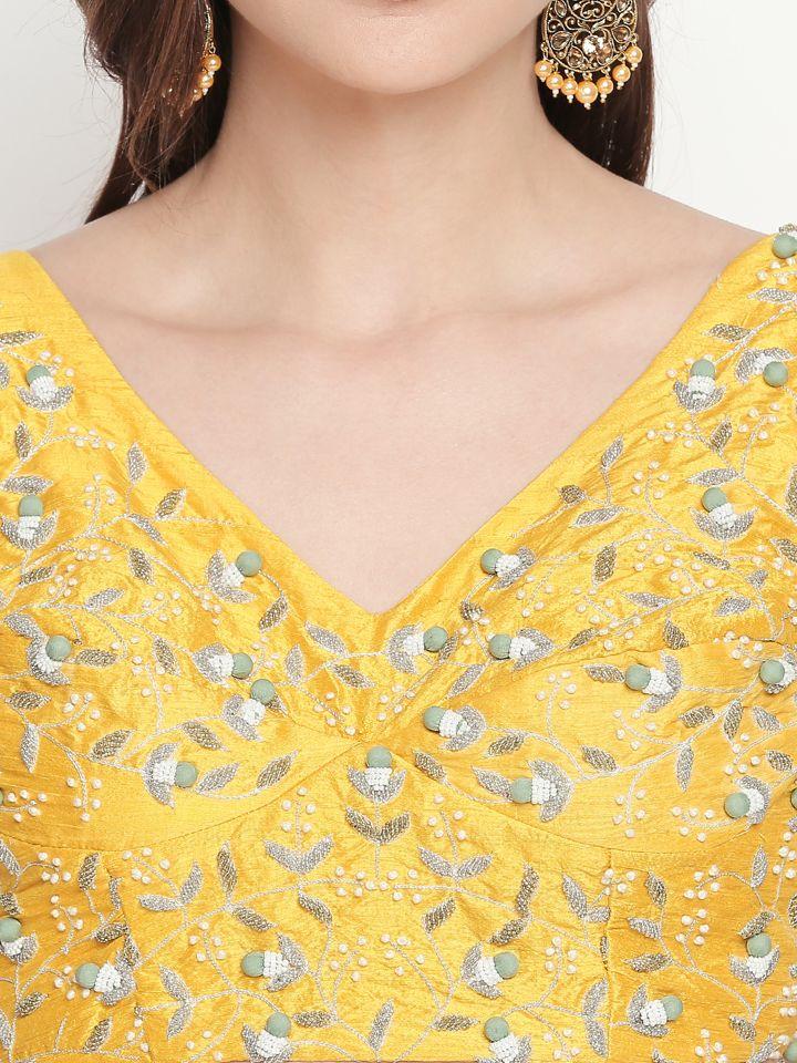 Yellow Ivory Lehenga - Fashion Brand & Designer Priti Sahni 9