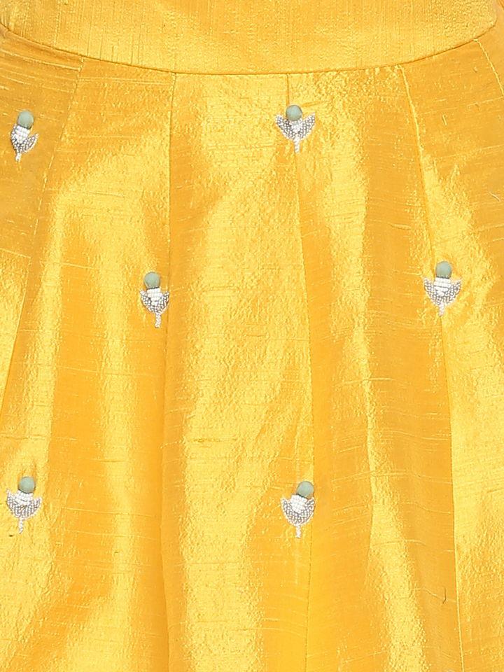 Yellow Ivory Lehenga - Fashion Brand & Designer Priti Sahni 10