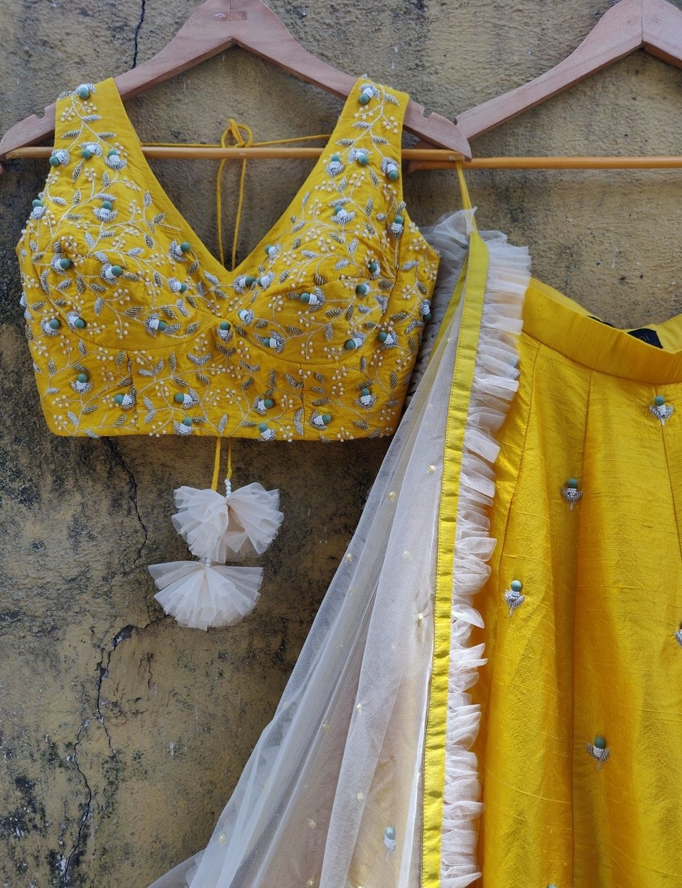 Yellow Ivory Lehenga - Fashion Brand & Designer Priti Sahni 5
