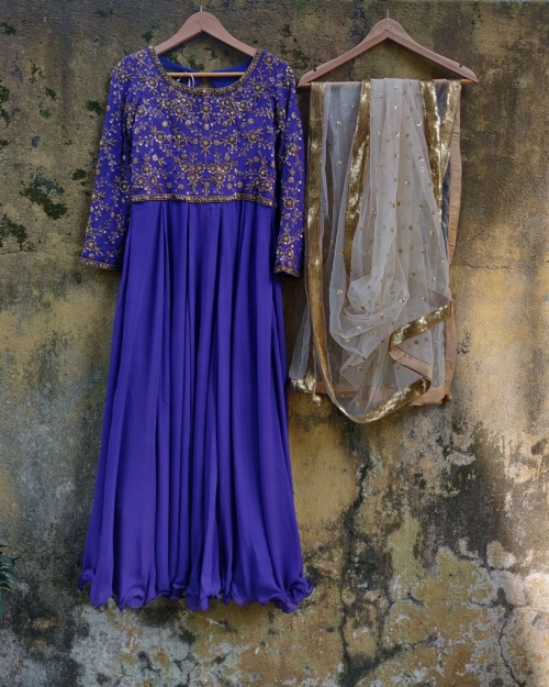 Purple Zardozi Work Anarkali