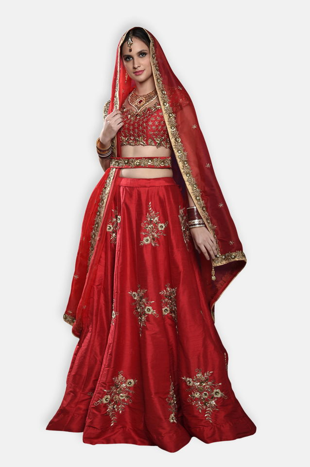 Red Bridal Lehenga Set