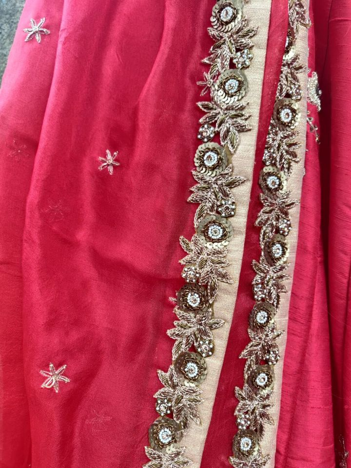 Red Bridal Lehenga Set - Fashion Brand & Designer Priti Sahni 11