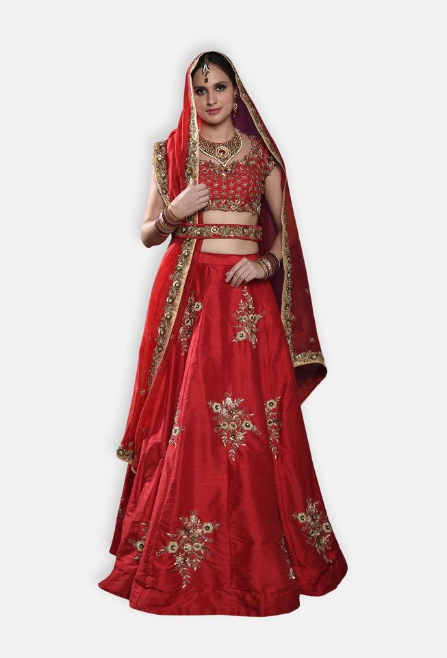 Red Bridal Lehenga Set - Fashion Brand & Designer Priti Sahni 2