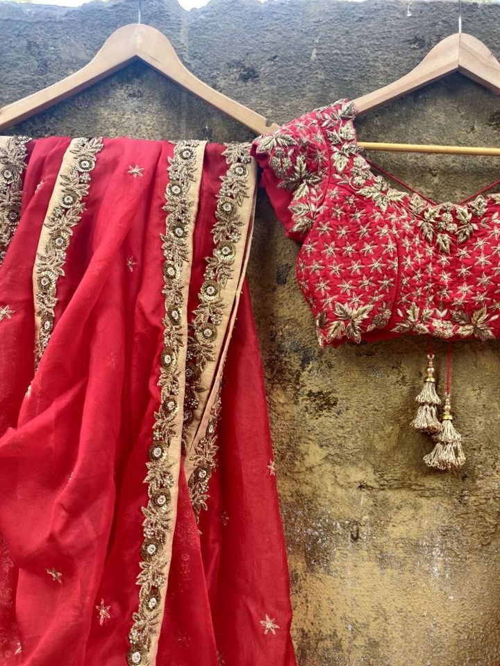 Red Bridal Lehenga Set - Fashion Brand & Designer Priti Sahni 7
