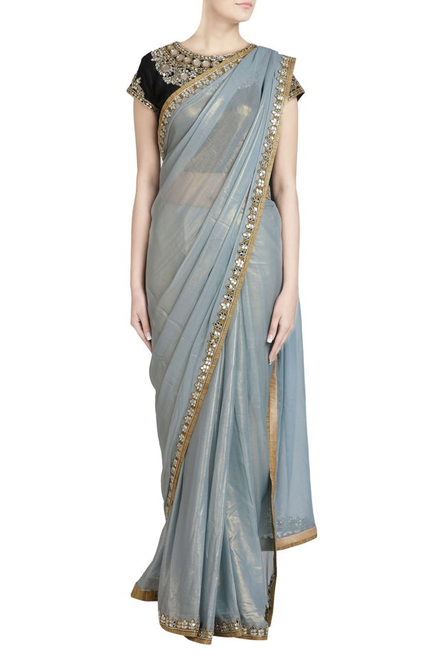 Grey Shimmer Saree
