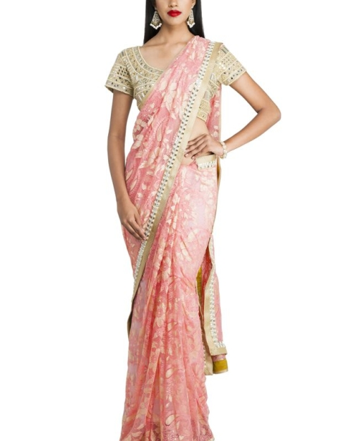 Pink Chantilly Saree