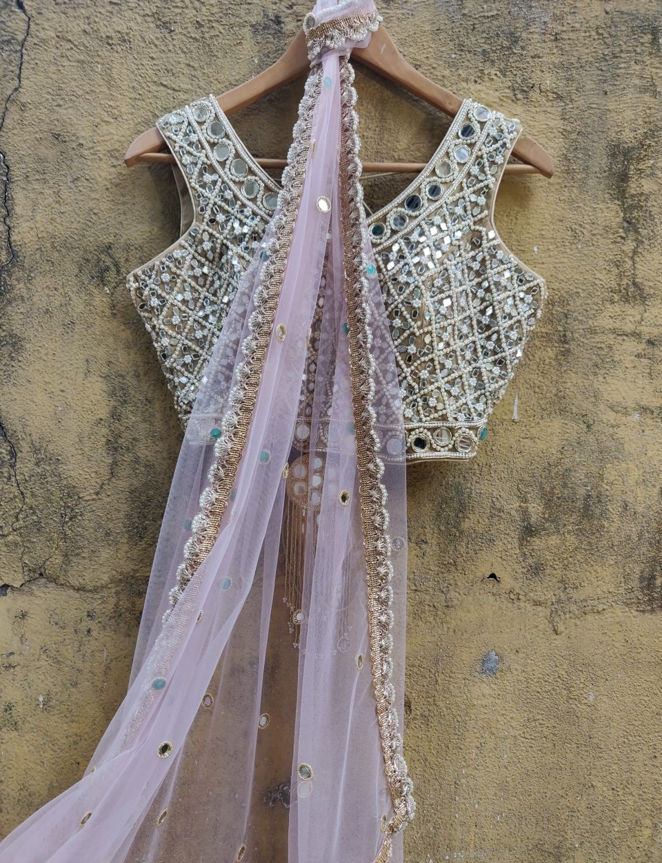 Light Pink Net Saree