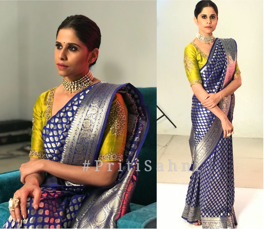 Sai Tamhankar 2 Celebrity Fashion Designer and Brand Priti Sahni - Celebrities