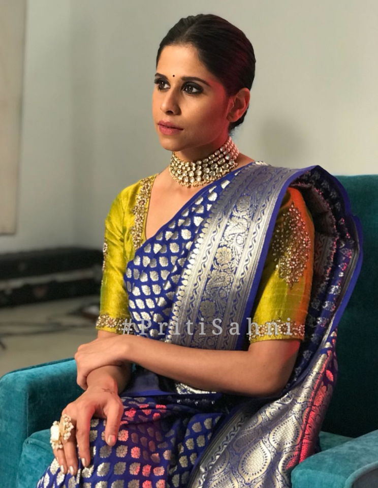 Sai Tamhankar Celebrity Fashion Designer and Brand Priti Sahni - Celebrities