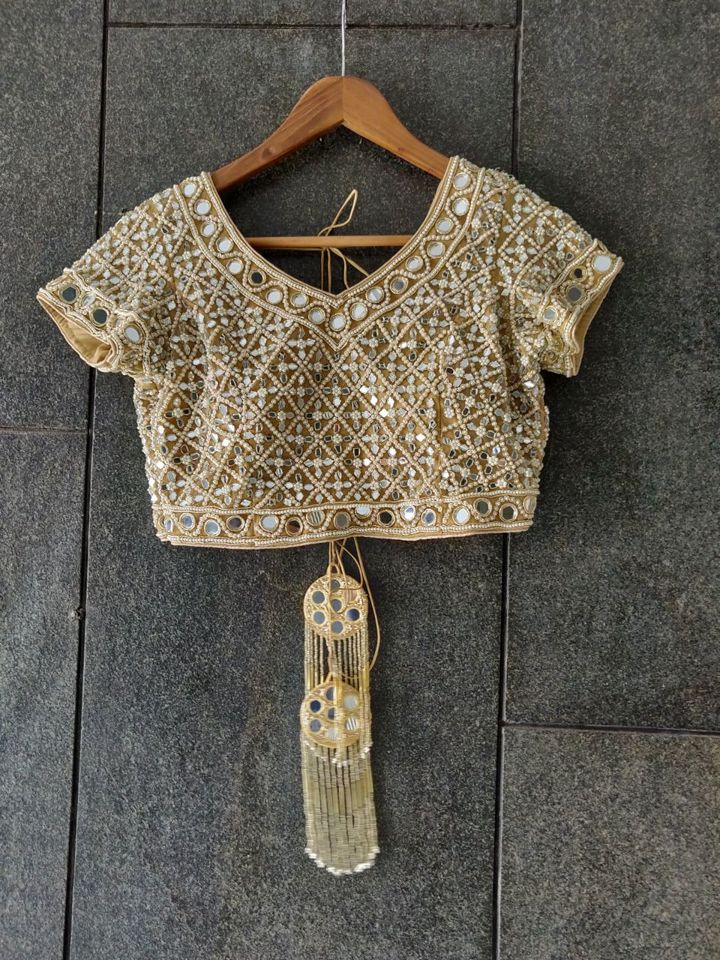 Mirror Tie Up Blouse with Short Sleeves