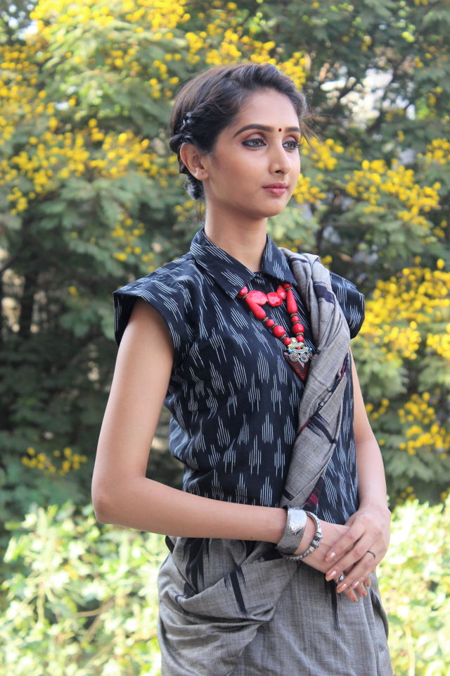 Grey Cotton Saree