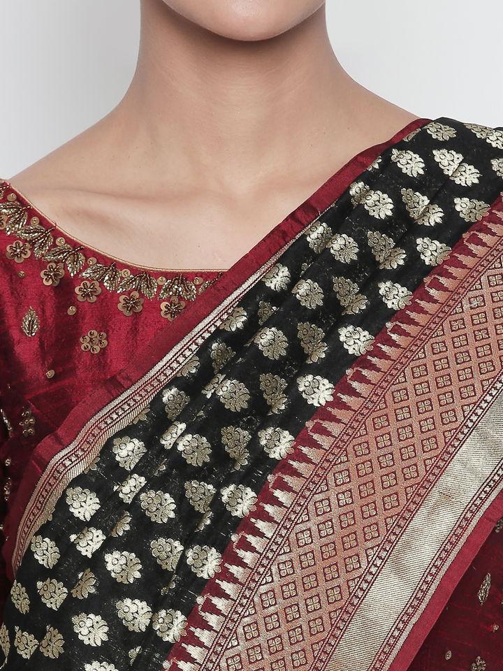 Black Benarasi Silk Saree