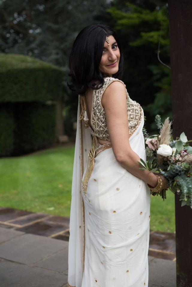Ivory Mirror Saree