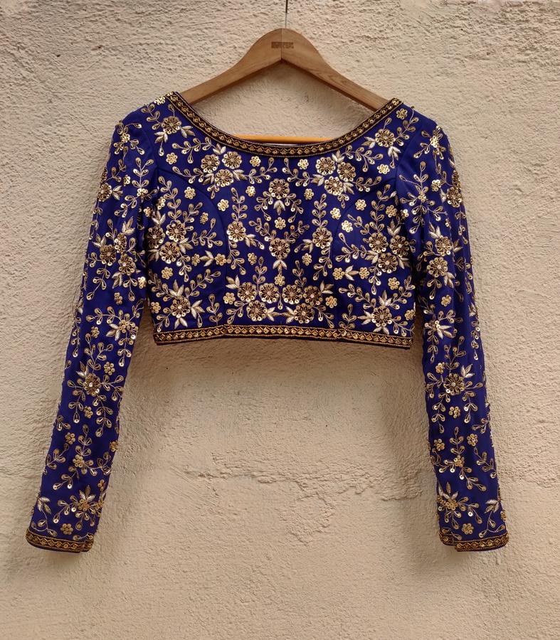 Indigo Blue Sharmily Lehenga - Fashion Brand & Designer Priti Sahni 6