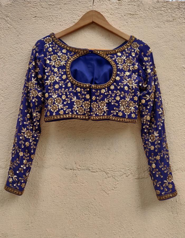 Indigo Blue Sharmily Lehenga - Fashion Brand & Designer Priti Sahni 5