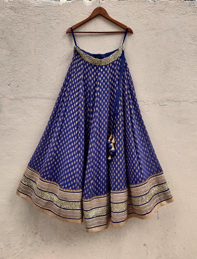 Indigo Blue Sharmily Lehenga - Fashion Brand & Designer Priti Sahni 4