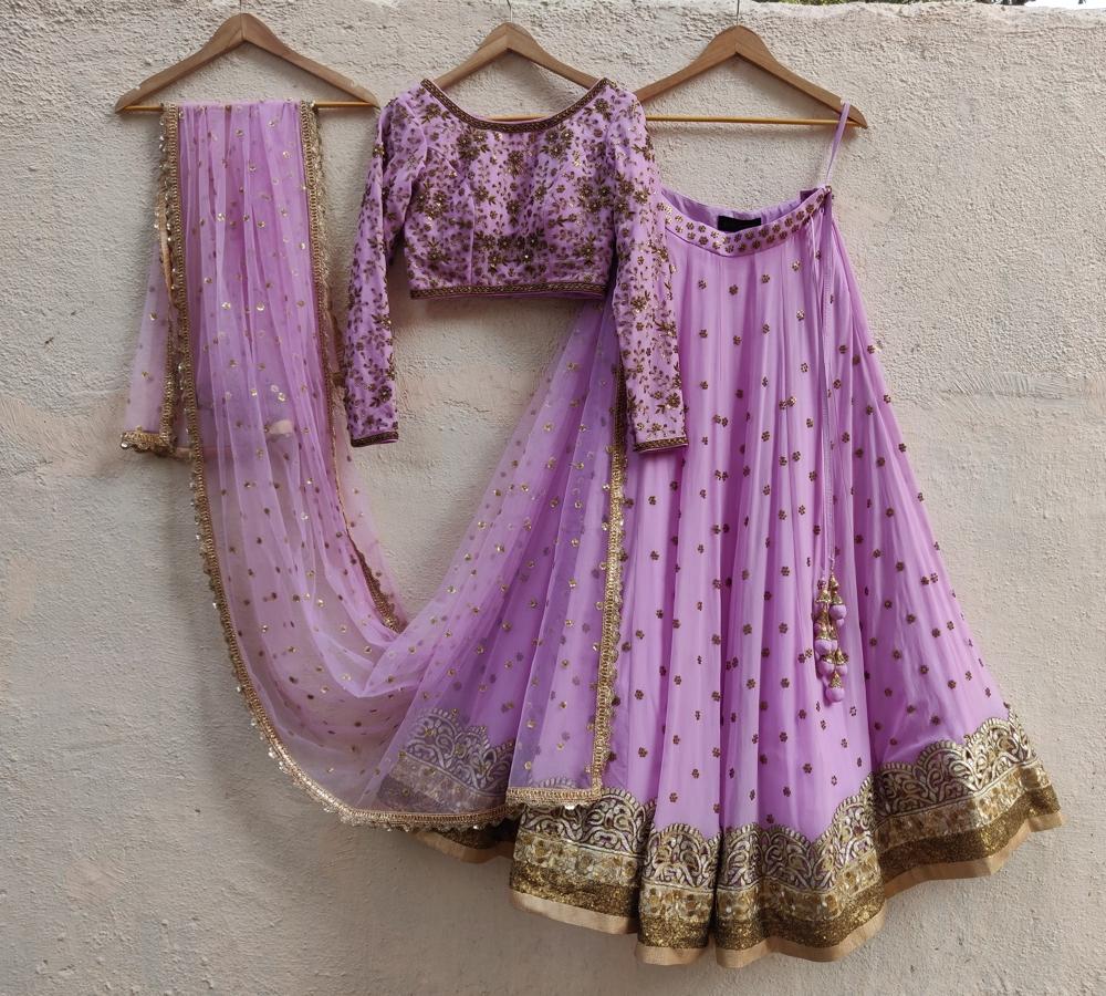 Lavender Sharmily Lehenga Set - Fashion Brand & Designer Priti Sahni