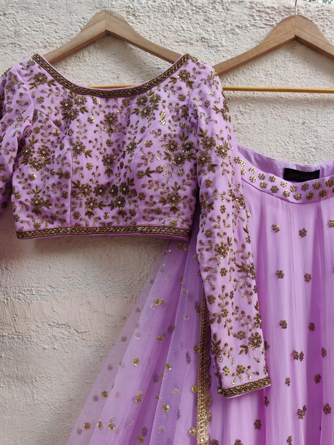 Lavender Sharmily Lehenga Set - Fashion Brand & Designer Priti Sahni 2