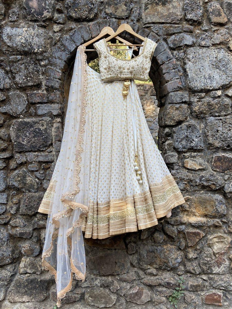 Ivory Sharmily Lehenga Set - Fashion Brand & Designer Priti Sahni 6