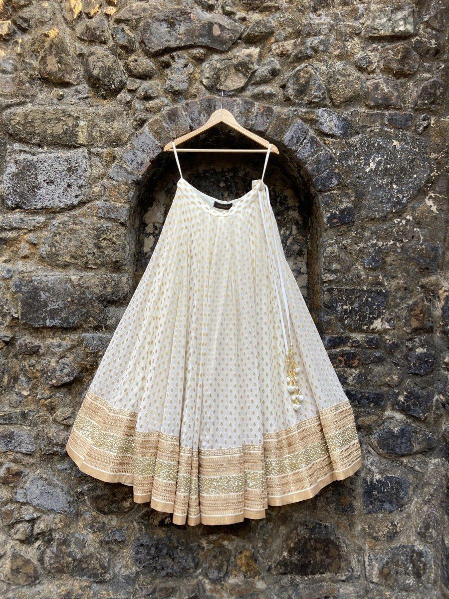 Ivory Sharmily Lehenga Set - Fashion Brand & Designer Priti Sahni 3