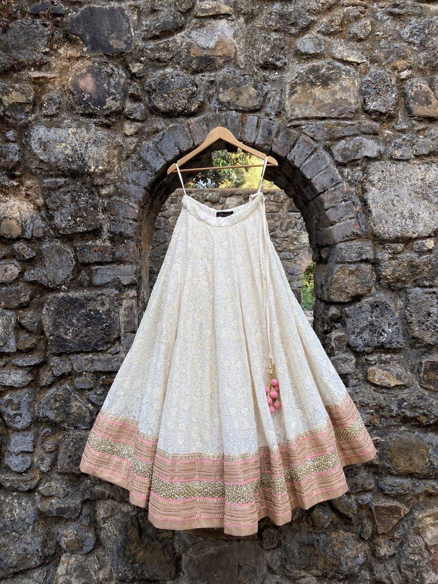 Ivory Lucknowi Lehenga Set - Fashion Brand & Designer Priti Sahni 3