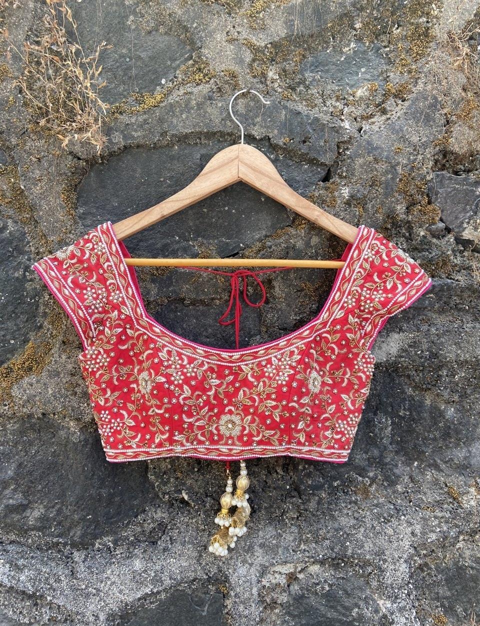 Red and Pink Bridal Lehenga Set - Fashion Brand & Designer Priti Sahni 3