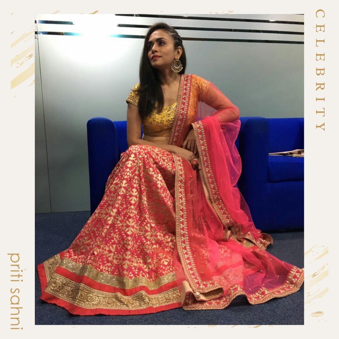 Amruta Khanvilkar - Celebrity - Top Fashion Brand and Designer Priti Sahni