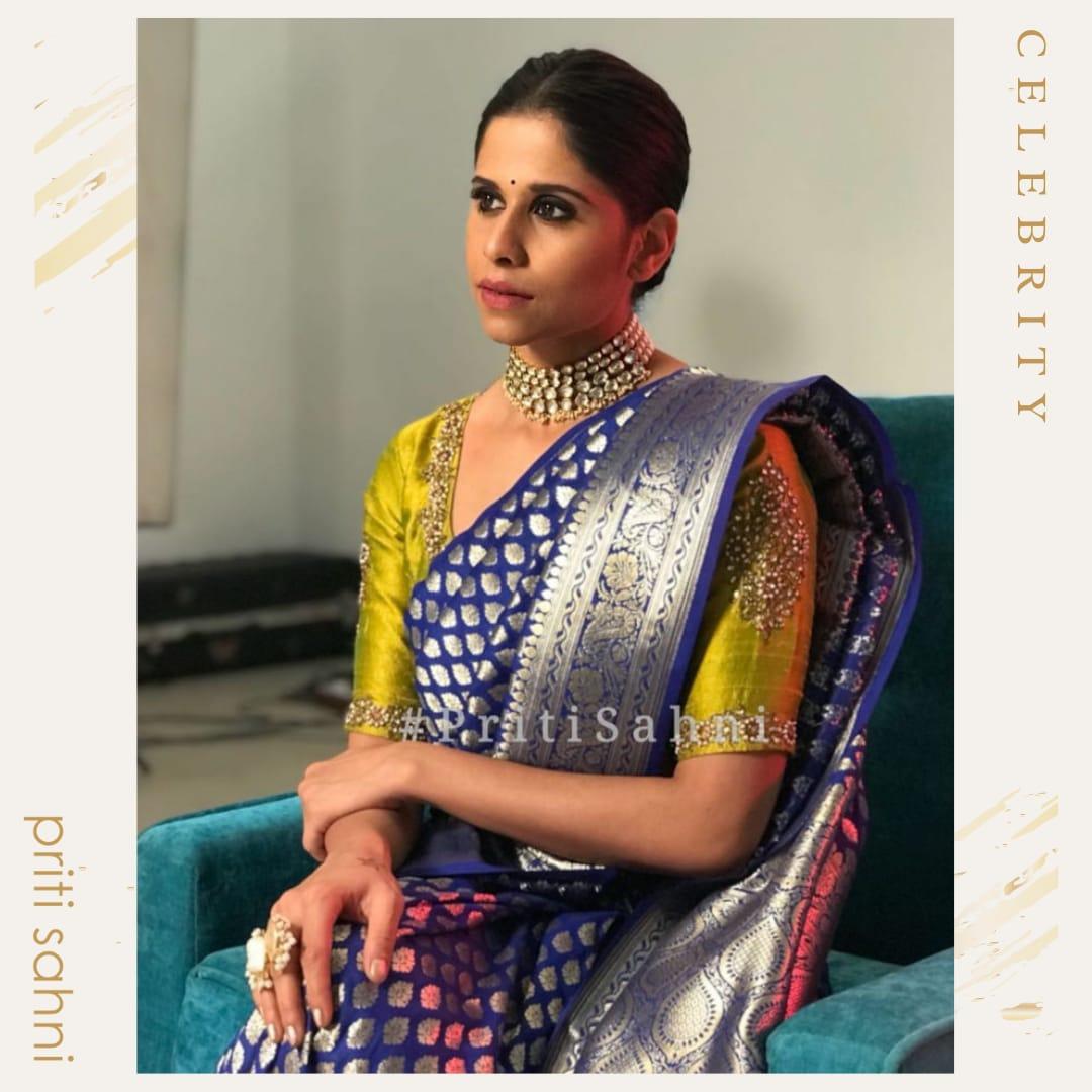 Sai Tamhankar - Celebrity - Top Fashion Brand and Designer Priti Sahni