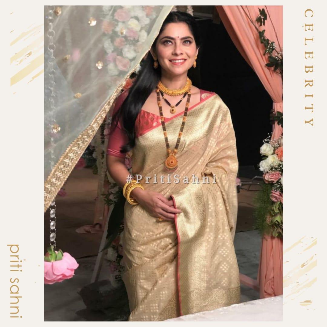 Sonalee Kulkarni - Celebrity - Top Fashion Brand and Designer Priti Sahni