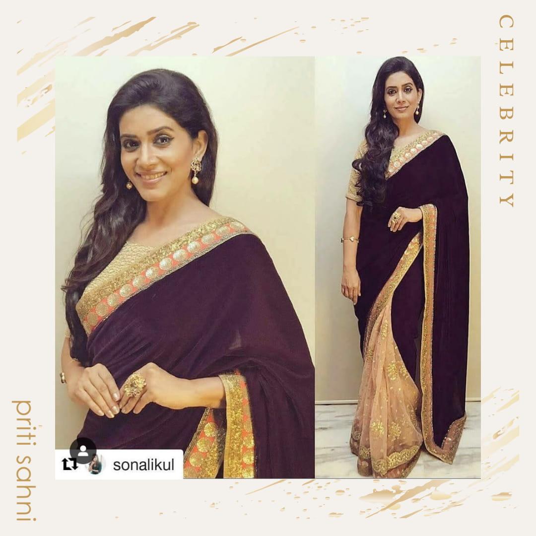 Sonali Kulkarni -Celebrity - Top Fashion Brand and Designer Priti Sahni